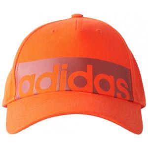 adidas 5 PANEL CLASSIC CAP LINEAR oranžová  - Dětská kšiltovka