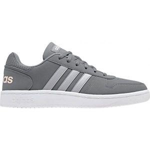 adidas HOOPS 2.0 šedá 6 - Dámské volnočasové boty