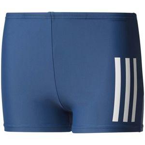 adidas BACK TO SCHOOL BOXER 3 STRIPES modrá 116 - Chlapecké sportovní plavky