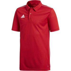 adidas CORE18 POLO Y červená 176 - Chlapecké polo tričko
