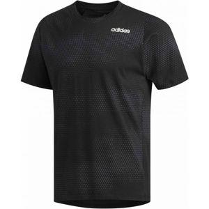 adidas FREELIFT GRAPHIC TECH COTTON SS TEE-AOP černá M - Pánské sportovní triko