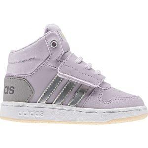 adidas HOOPS MID 2.0 I fialová 22 - Dětská volnočasová obuv