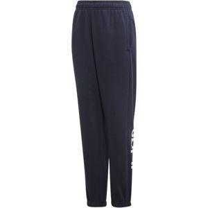 adidas YB E LIN PANT tmavě modrá 164 - Chlapecké tepláky