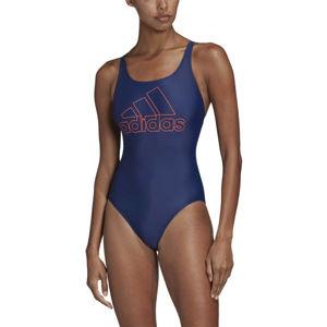 adidas ATHLY V LOGO SWIMSUIT modrá 42 - Dámské plavky