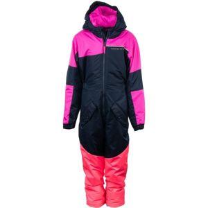 ALPINE PRO BASTO růžová 92-98 - Dětský zimní overal