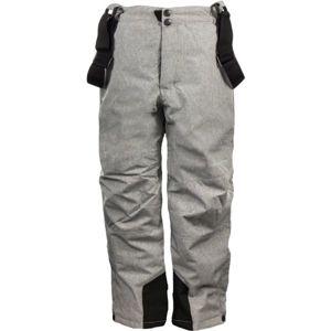 ALPINE PRO GUSTO šedá 152-158 - Dětské lyžařské kalhoty