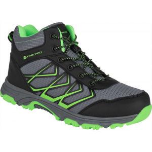 ALPINE PRO JACOBO MID zelená 39 - Dětská outdoorová obuv