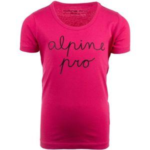 ALPINE PRO GRETO růžová 116-122 - Dětské triko