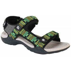 ALPINE PRO LAUN zelená 46 - Pánská letní obuv