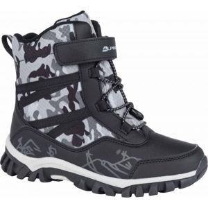 ALPINE PRO MIRELO černá 32 - Dětská zimní obuv