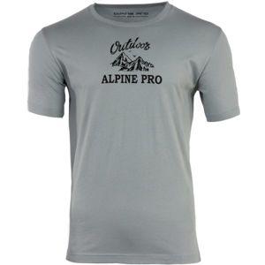 ALPINE PRO DARNELL 2 šedá XL - Pánské triko