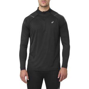 Asics ICON LS 1/2 ZIP černá XL - Pánské sportovní triko