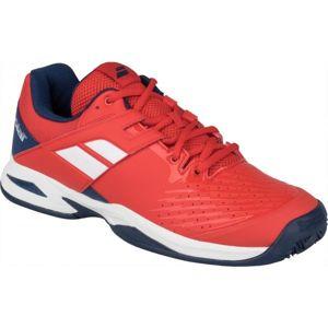 Babolat PROPULSE CLAY JR červená 5.5 - Juniorská tenisová obuv