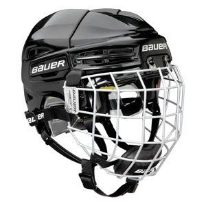 Bauer RE-AKT 100 YTH COMBO černá 49-54 - Dětská hokejová helma s mřížkou