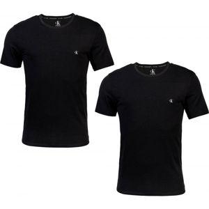 Calvin Klein S/S CREW NECK 2PK černá XL - Sada pánských triček