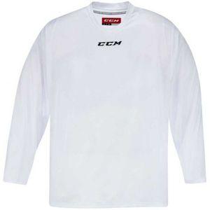 CCM 5000 PRACTICE JR bílá L/XL - Dětský hokejový dres