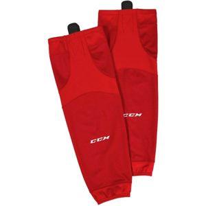 CCM 6000 EDGE SOCK JR červená NS - Dětské hokejové stulpny
