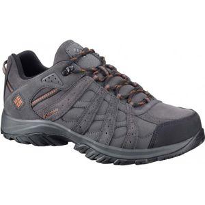 Columbia REDMOND XT LEATHER OMNITECH šedá 10.5 - Pánská trailová obuv