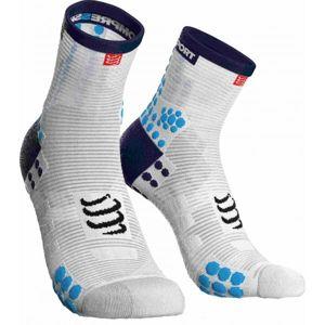Compressport RACE V3.0 RUN HI modrá T4 - Běžecké ponožky