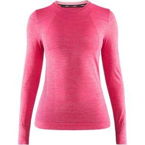 Craft FUSEKNIT COMFORT LS růžová M - Dámské funkční triko