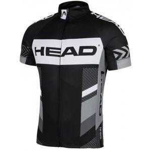 Head MEN JERSEY TEAM černá M - Pánský cyklistický dres
