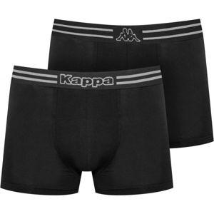 Kappa LOGO ZEN 2PACK černá XXL - Pánské boxerky
