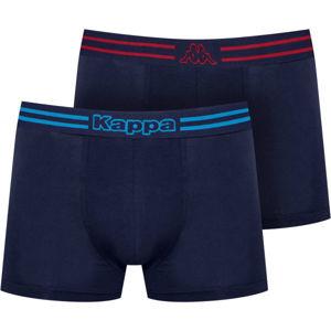 Kappa LOGO ZEN 2PACK modrá L - Pánské boxerky