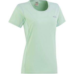 KARI TRAA NORA TEE zelená L - Dámské tréninkové tričko