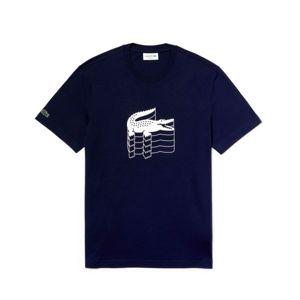 Lacoste MAN T-SHIRT černá XXL - Pánské tričko