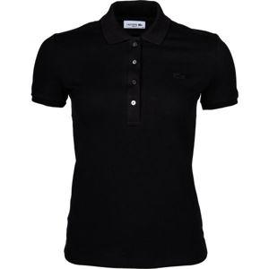 Lacoste SHORT SLEEVE POLO černá XS - Dámské polo tričko