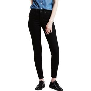 Levi's SHAPING SUPER SKINNY BLACK GALAXY černá 27/30 - Dámské kalhoty