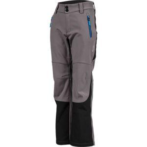 Lewro DAYK šedá 164-170 - Dětské softshellové kalhoty