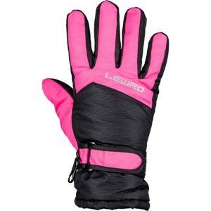 Lewro NALANI růžová 4-7 - Dětské lyžařské rukavice