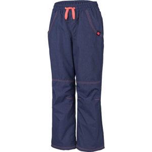 Lewro SIGI oranžová 128-134 - Dětské zateplené kalhoty