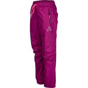 Lewro NILAN fialová 116-122 - Dětské zateplené kalhoty