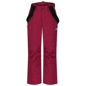 Loap FUGALO růžová 152 - Dětské lyžařské kalhoty
