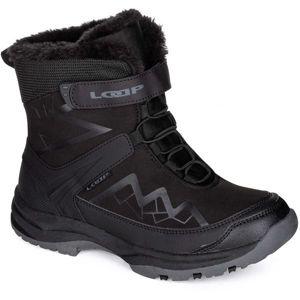 Loap TOPAS černá 40 - Dětská zimní obuv