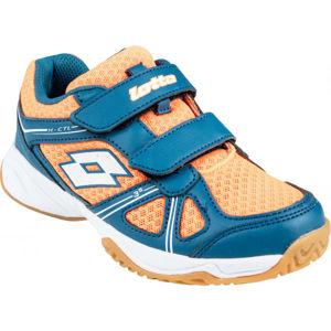 Lotto JUMPER 400 CL S oranžová 33 - Dětská sálová obuv