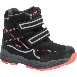 Lotto COPPER černá 25 - Dětská zimní obuv