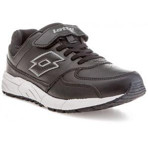 Lotto STRADA II LTH CL SL černá 33 - Dětská volnočasová obuv