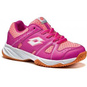 Lotto JUMPER 400 JR L růžová 38 - Dětská sálová obuv