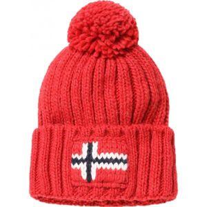 Napapijri SEMIURY 2 červená UNI - Pánská čepice