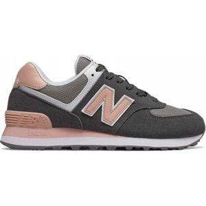New Balance WL574NDB šedá 7.5 - Dámská volnočasová obuv