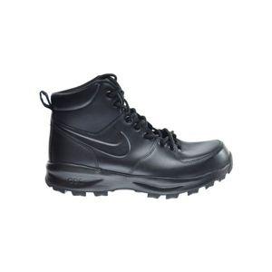 Nike MANOA LEATHER černá 11.5 - Pánská volnočasová obuv