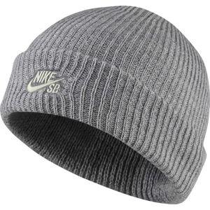 Nike SB FISHERMAN BEANIE tmavě šedá  - Pletená čepice