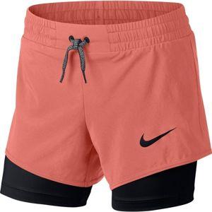 Nike G SHORT 2IN1 černá L - Dívčí tréninkové kraťasy