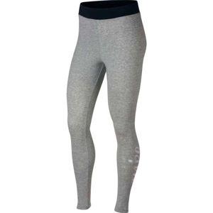 Nike SPORTSWEAR METALLIC HW šedá L - Dámské legíny