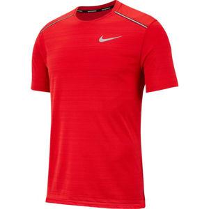 Nike DRY MILER TOP SS M červená L - Pánské běžecké tričko