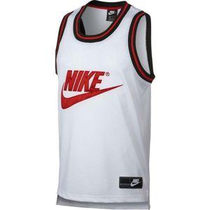 Nike NSW TANK STMT MESH bílá 2XL - Pánské tílko