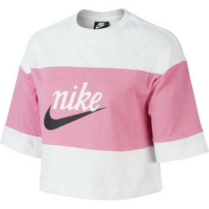 Nike NSW VRSTY TOP SS W růžová S - Dámské tričko